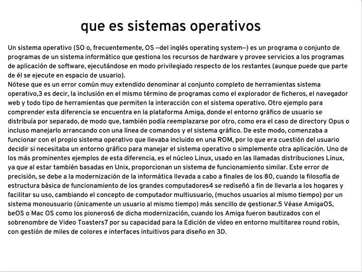 que es sistemas operativos