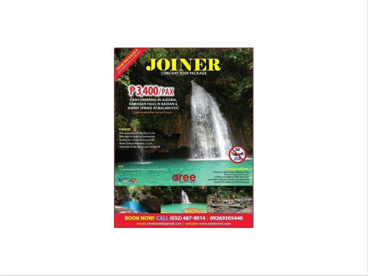 Aree travel tours cebu joiner tour package