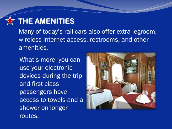 THE AMENITIES