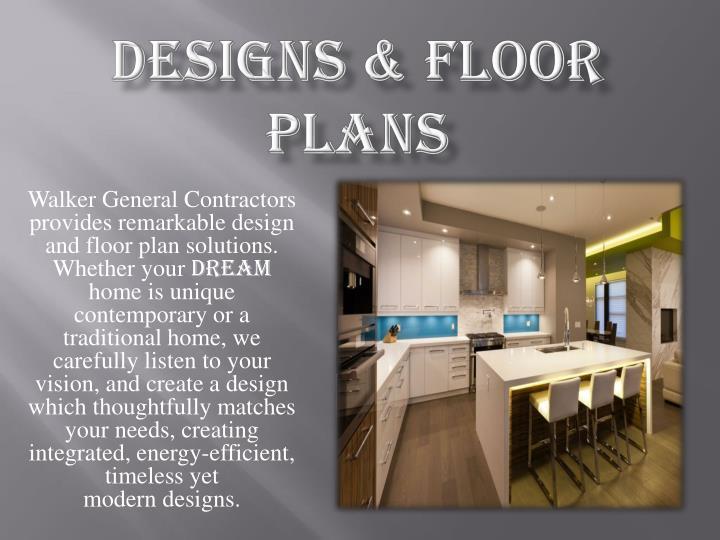 Designs & Floor Plans
