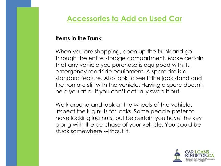 Accessories to Add on Used Car