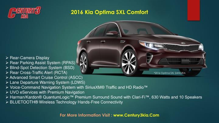 2016 Kia Optima SXL Comfort