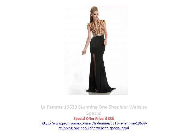 La Femme 19639 Stunning One Shoulder Website Special