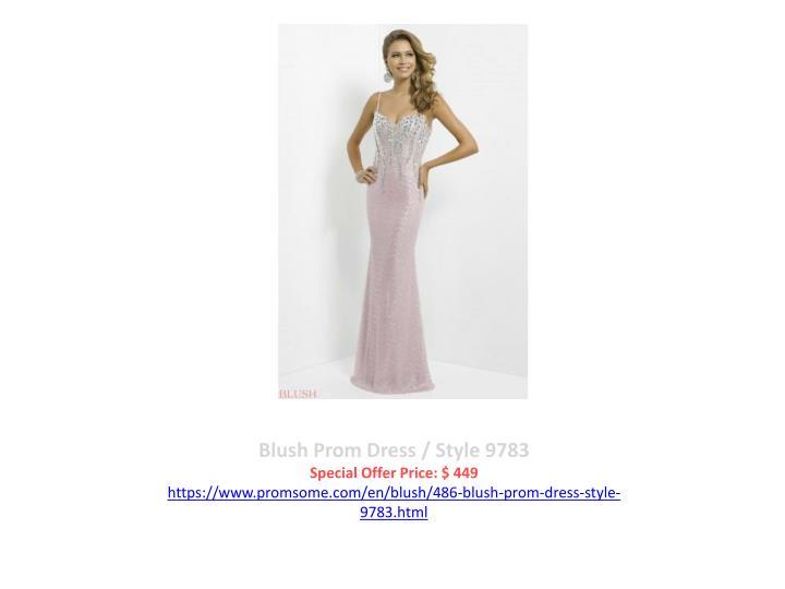 Blush Prom Dress / Style 9783