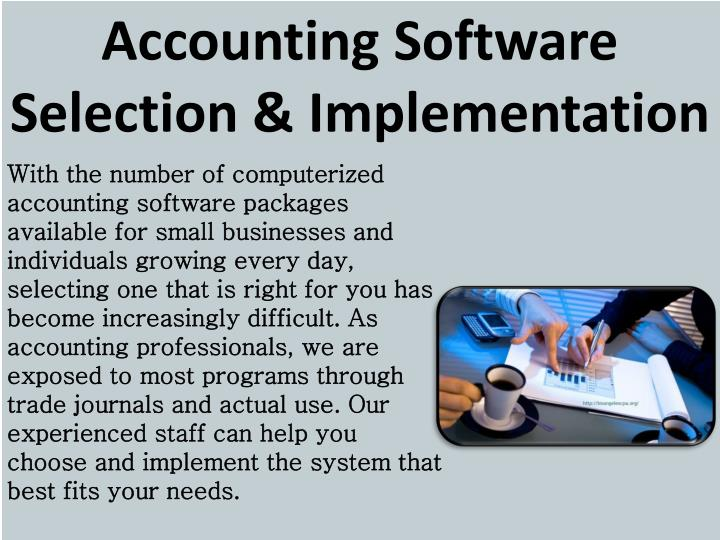 Accounting Software Selection & Implementation