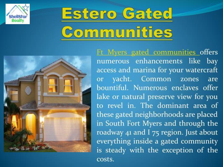 Estero Gated Communities