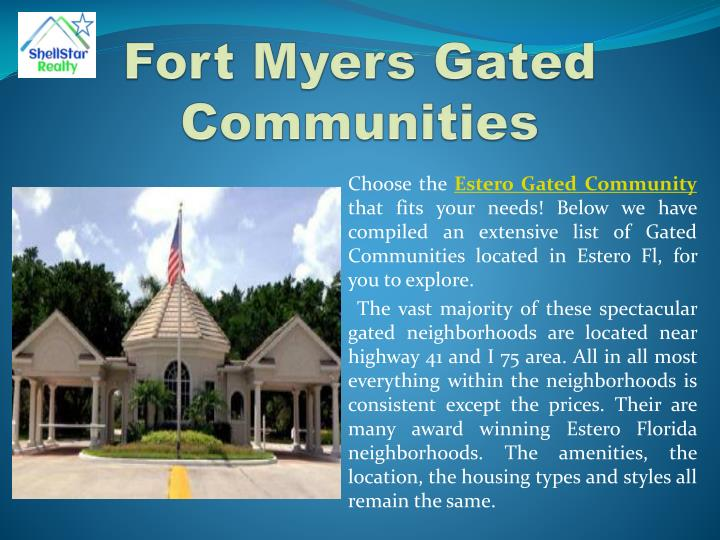 Fort Myers Gated Communities