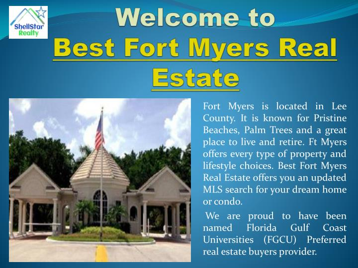 Welcome to best fort myers real estate