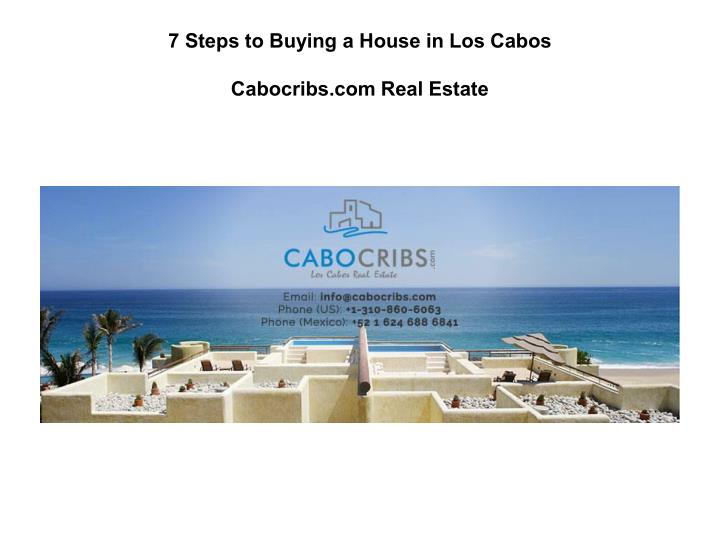 7 Steps to Buying a House in Los Cabos