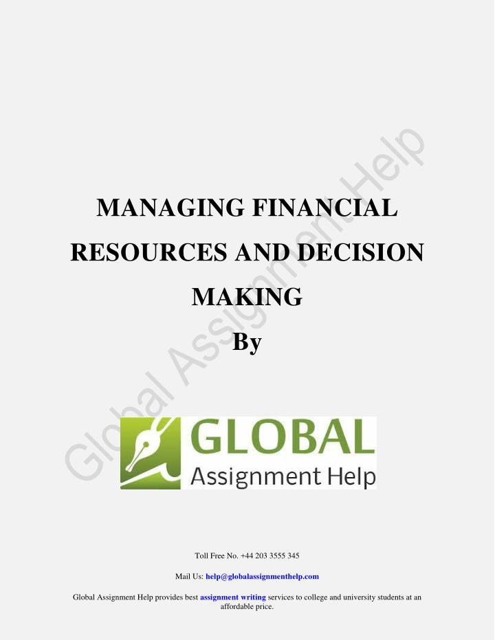 MANAGING FINANCIAL