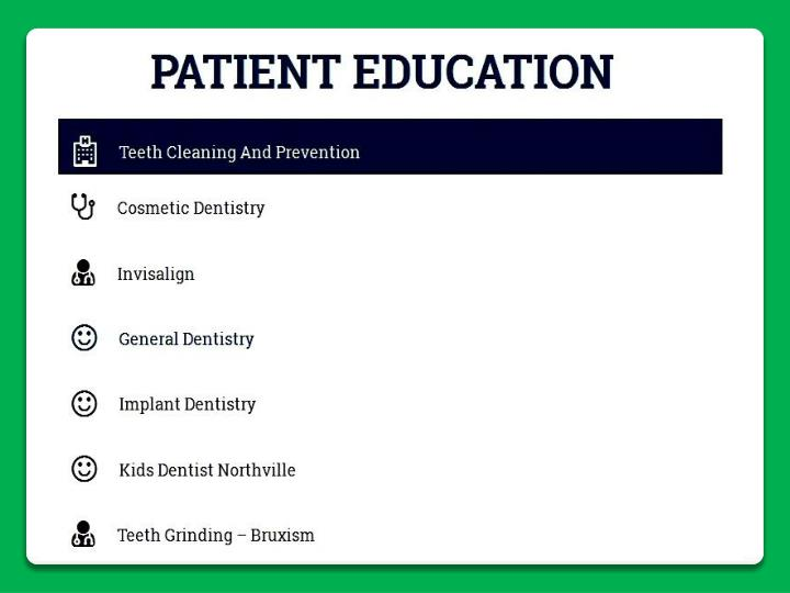 Find most top rrated dentists in northville mi