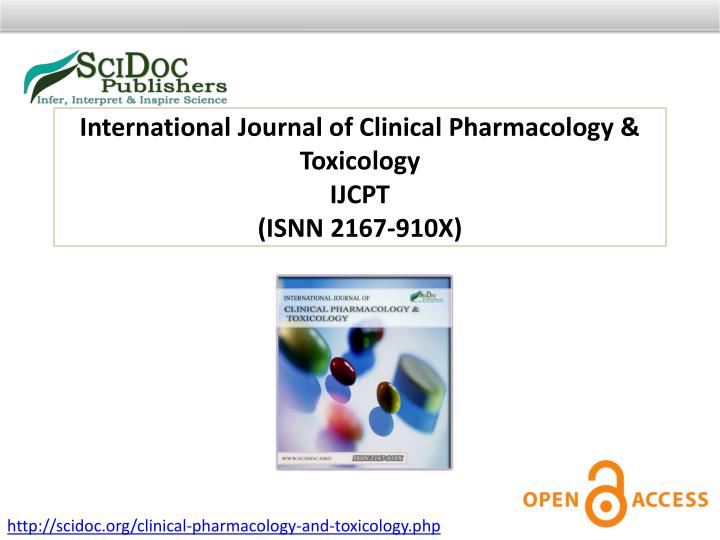 International Journal of Clinical Pharmacology & Toxicology