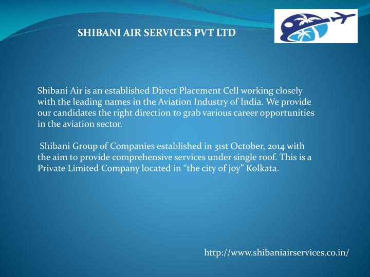 SHIBANI AIR SERVICES PVT LTD