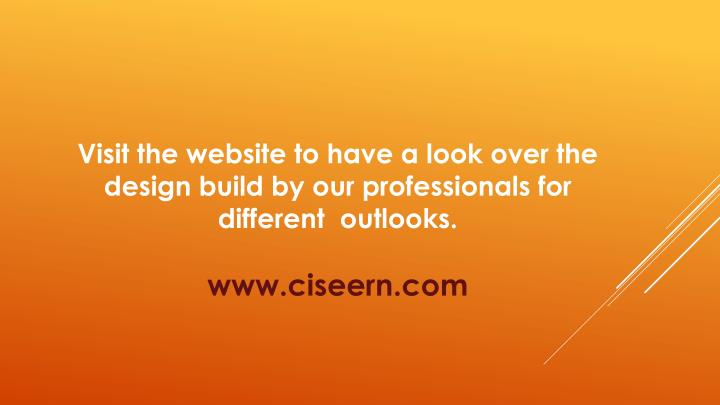 Visit the website to have a look over the design build by our professionals for different  outlooks.