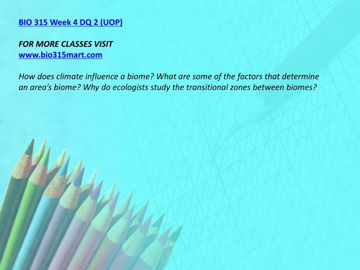 BIO 315 Week 4 DQ 2 (UOP)