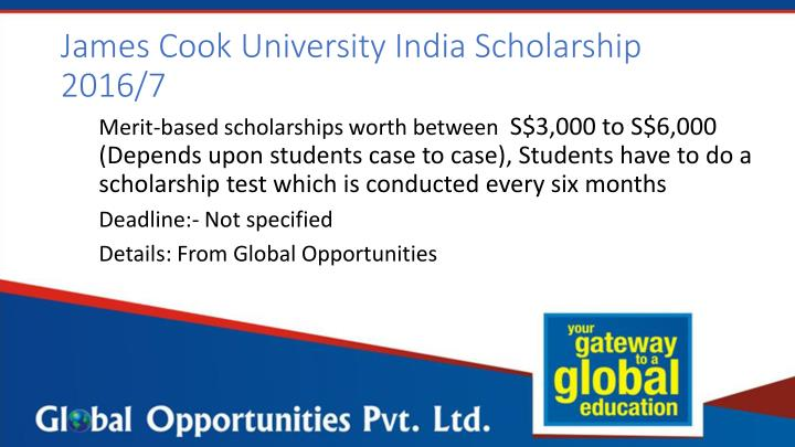James Cook University India Scholarship