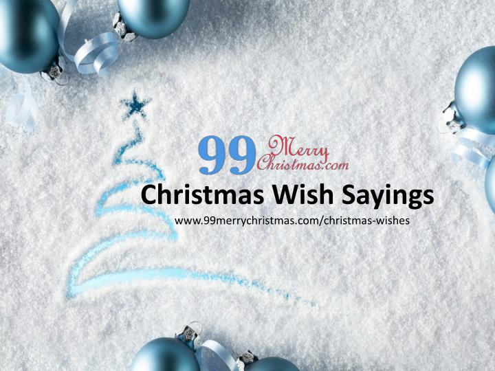 Christmas Wish Sayings
