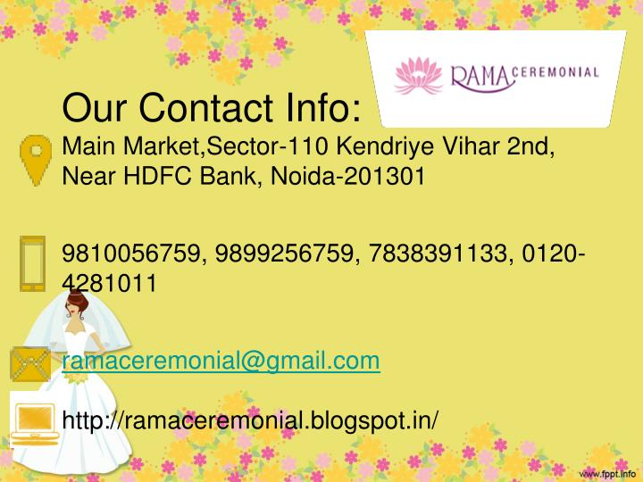 Our Contact Info: