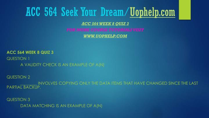 ACC 564