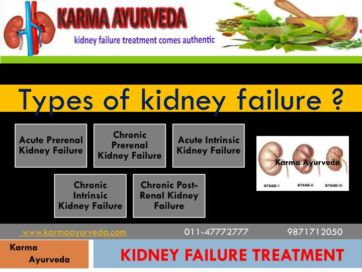 Types of kidney failure