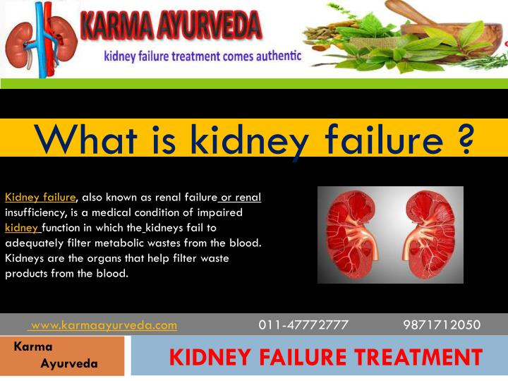 What is kidney failure