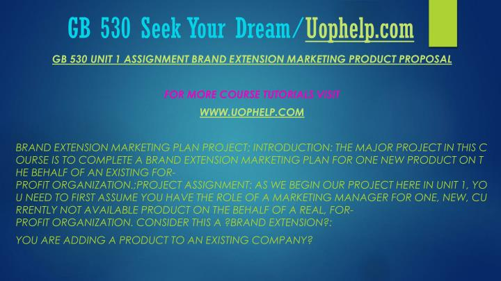 Gb 530 seek your dream uophelp com1