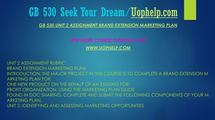 Gb 530 seek your dream uophelp com2
