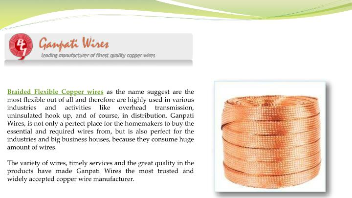 Braided Flexible Copper wires