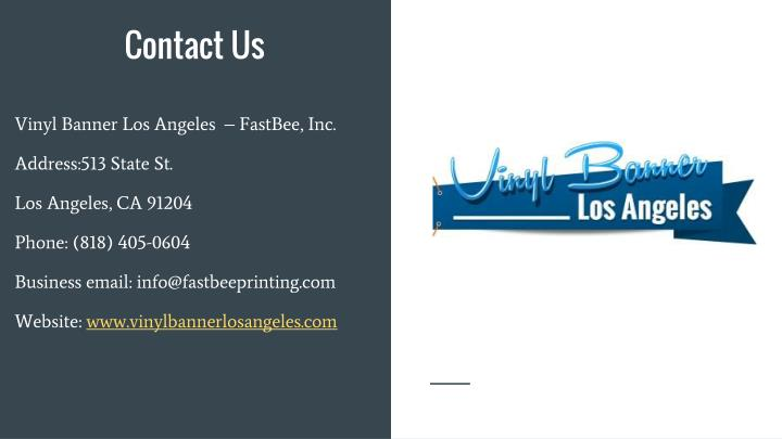 Vinyl Banner Los Angeles  – FastBee, Inc.