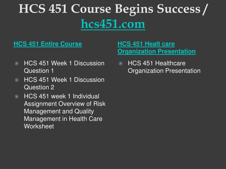 Hcs 451 course begins success hcs451 com1