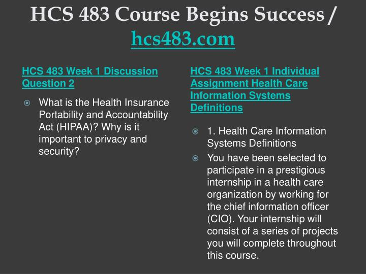 Hcs 483 course begins success hcs483 com2