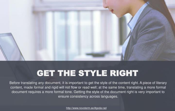 GET THE STYLE RIGHT