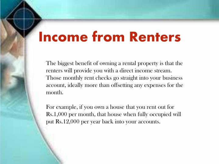 Income from Renters