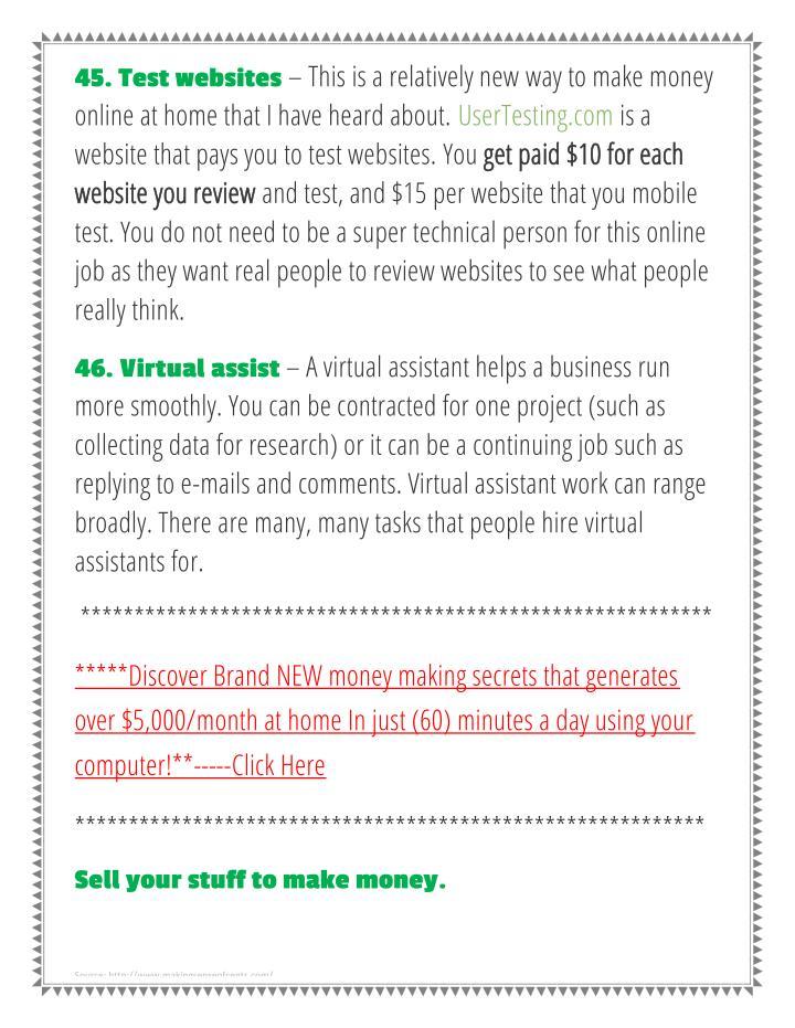 45. Test websites