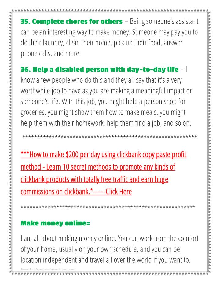 35. Complete chores for others