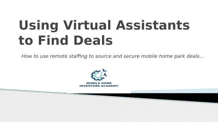 Using Virtual Assistants