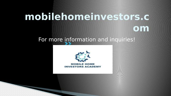 mobilehomeinvestors.c
