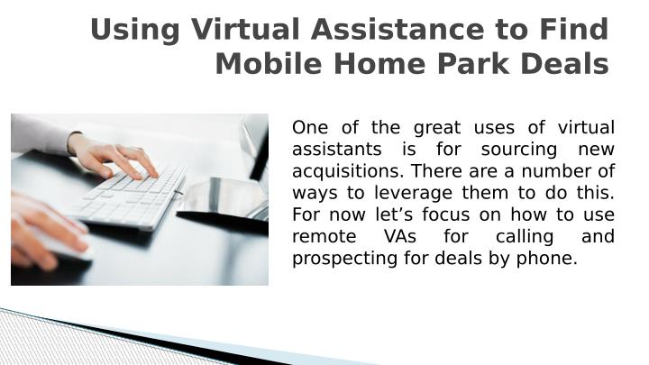 Using Virtual Assistance to Find