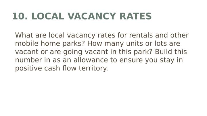 10. LOCAL VACANCY RATES