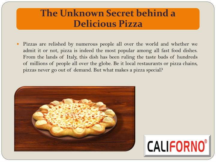 Pizzas are relished by numerous people all over the world and whether we admit it or not, pizza is i...