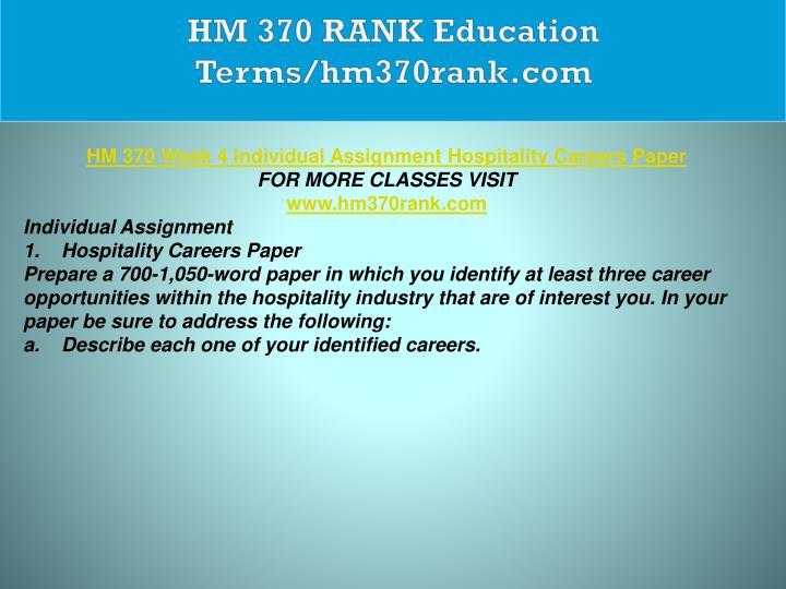 HM 370 RANK Education Terms/hm370rank.com