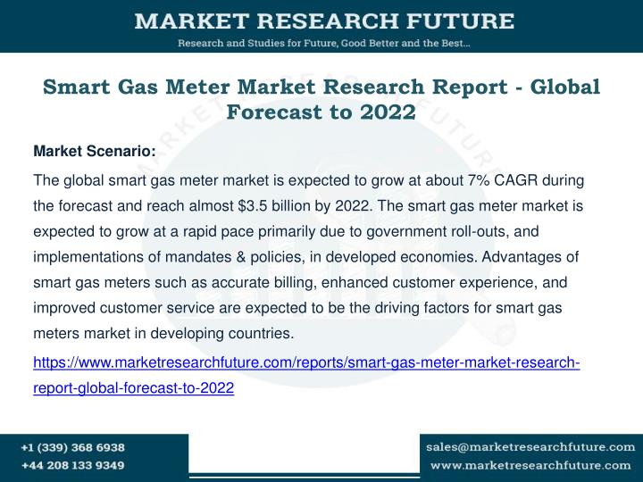 Smart gas meter market research report global forecast to 2022