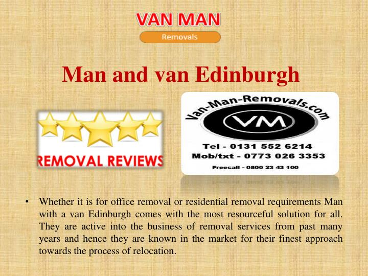 Man and van Edinburgh