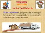 moving van edinburgh