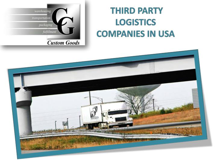 THIRD PARTY LOGISTICS COMPANIES IN USA
