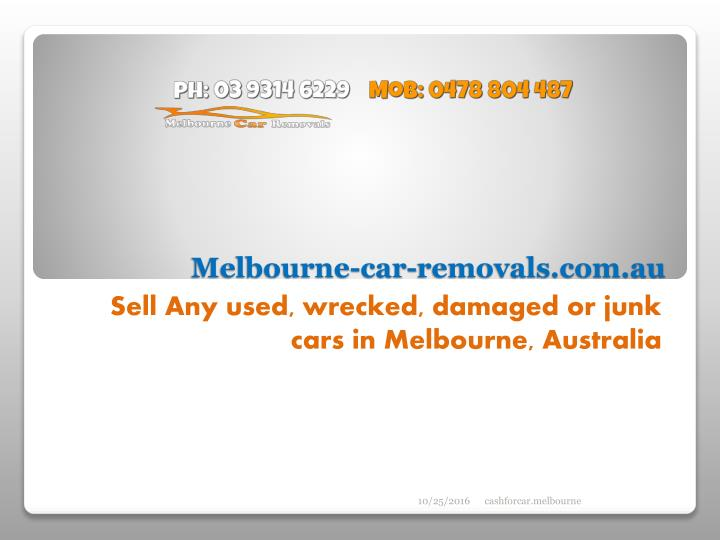 Melbourne car removals com au