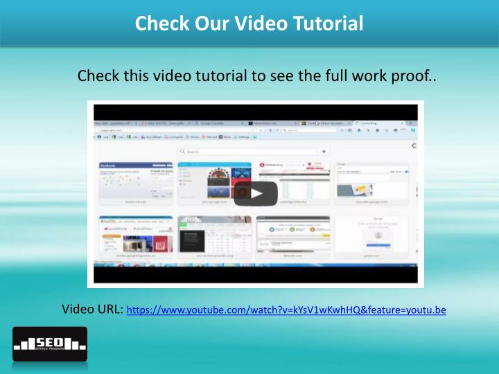 Check Our Video Tutorial