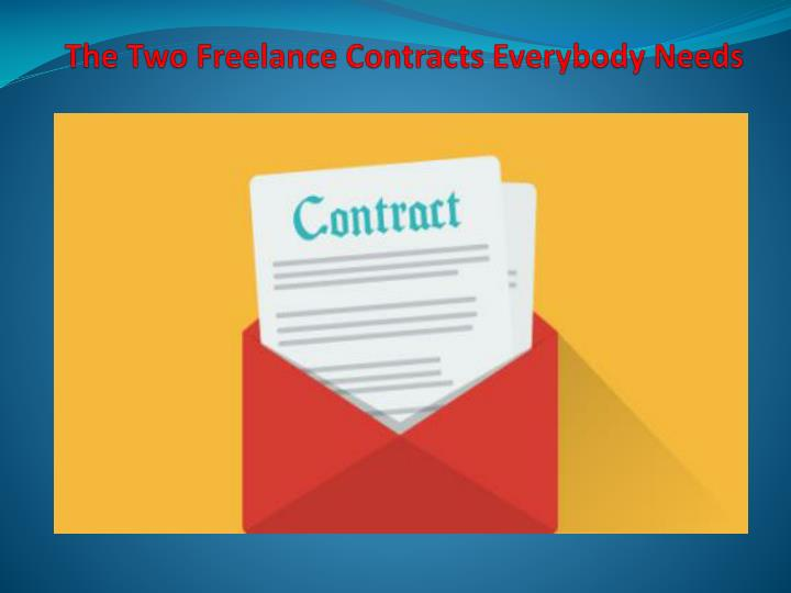 The two freelance contracts everybody needs