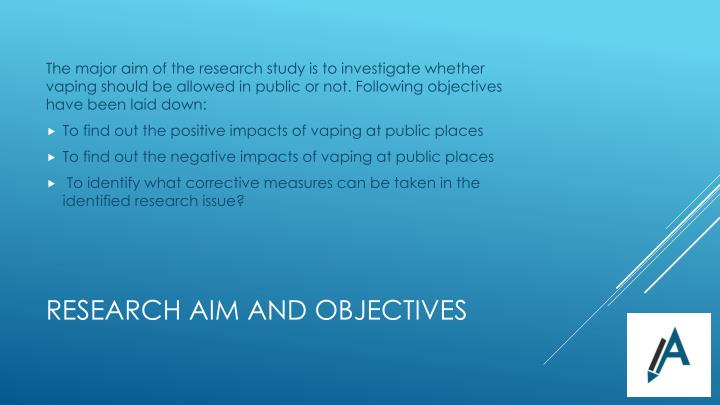 Research aim and objectives