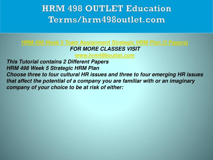 HRM 498 OUTLET Education Terms/hrm498outlet.com